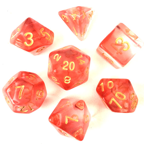 Crimson Light -  RPG Dice Set, CritKit