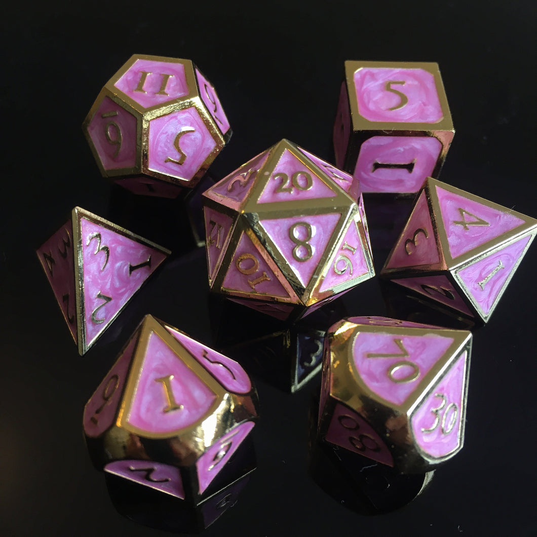 Metal Blossom -  RPG Dice Set, CritKit