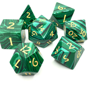 Malachite Gemstone Dice - Critical Kit