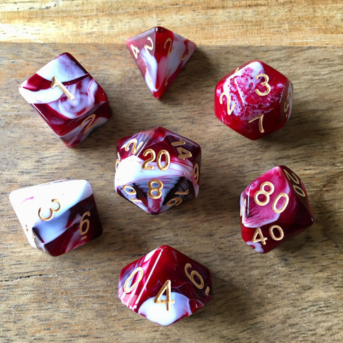 Midnight Coven (Blood) -  RPG Dice Set, CritKit