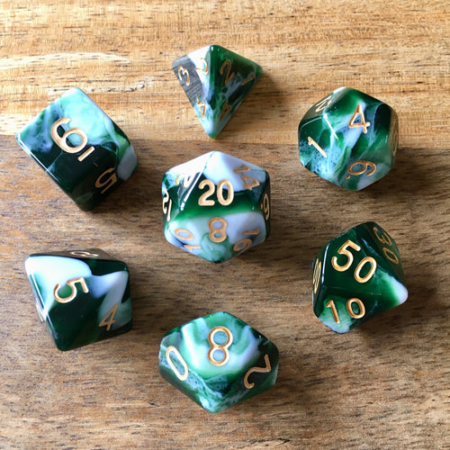 Midnight Coven (Forest) -  RPG Dice Set, CritKit