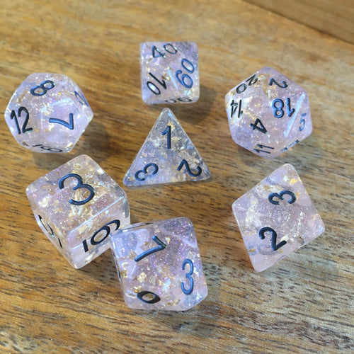 Pink Champagne 🍾 Dice Box Bundle -  RPG Dice Set, CritKit