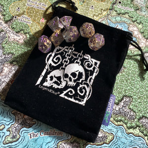 Skulls - Luxury Dice Bag -  RPG Dice Set, CritKit