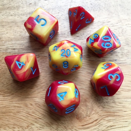 Fire Storm -  RPG Dice Set, CritKit
