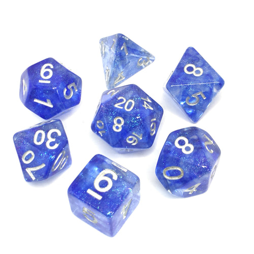 Blue Veil -  RPG Dice Set, CritKit