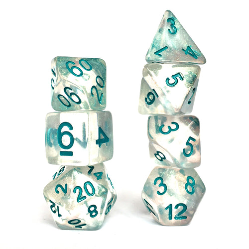 Snowstorm -  RPG Dice Set, CritKit