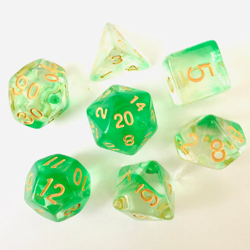 Green Ripple -  RPG Dice Set, CritKit