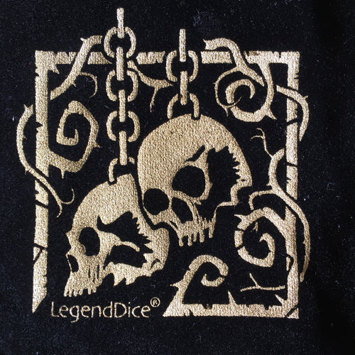 Skulls - Luxury Dice Bag - Critical Kit