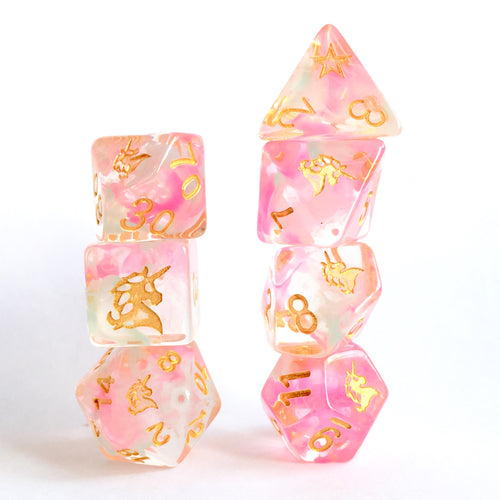 Spirit of Unicorn -  RPG Dice Set, CritKit