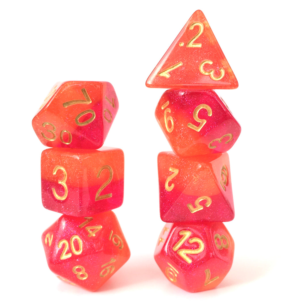 Pomegranate -  RPG Dice Set, CritKit