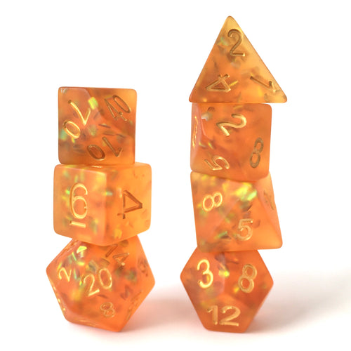 Firefly Amber -  RPG Dice Set, CritKit