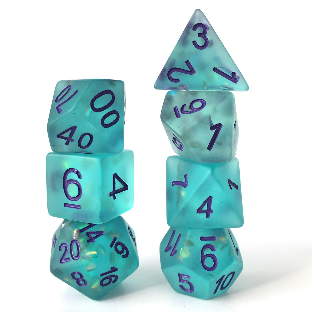 Firefly Turquoise -  RPG Dice Set, CritKit
