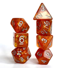 Load image into Gallery viewer, Pumpkin Pie -  RPG Dice Set, CritKit