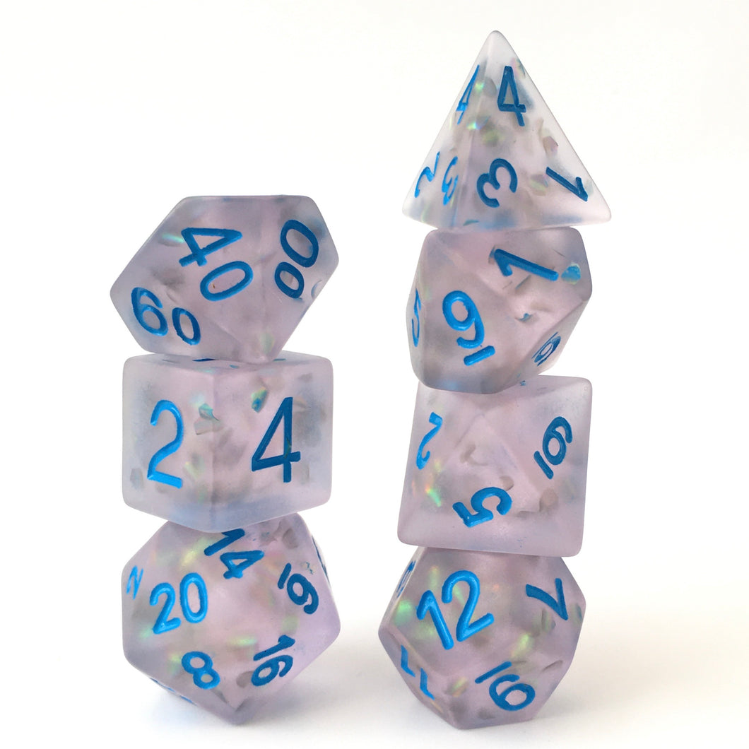 Firefly Blue -  RPG Dice Set, CritKit