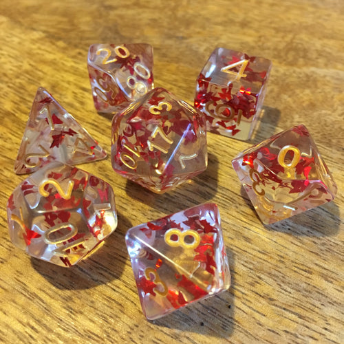 Red Admiral -  RPG Dice Set, CritKit