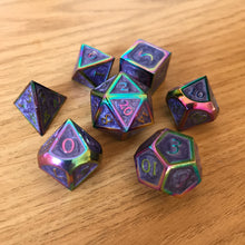 Load image into Gallery viewer, Metal Dreamscape -  RPG Dice Set, CritKit