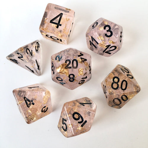 Pink Champagne -  RPG Dice Set, CritKit