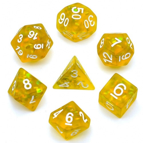 Firefly Sulfur -  RPG Dice Set, CritKit