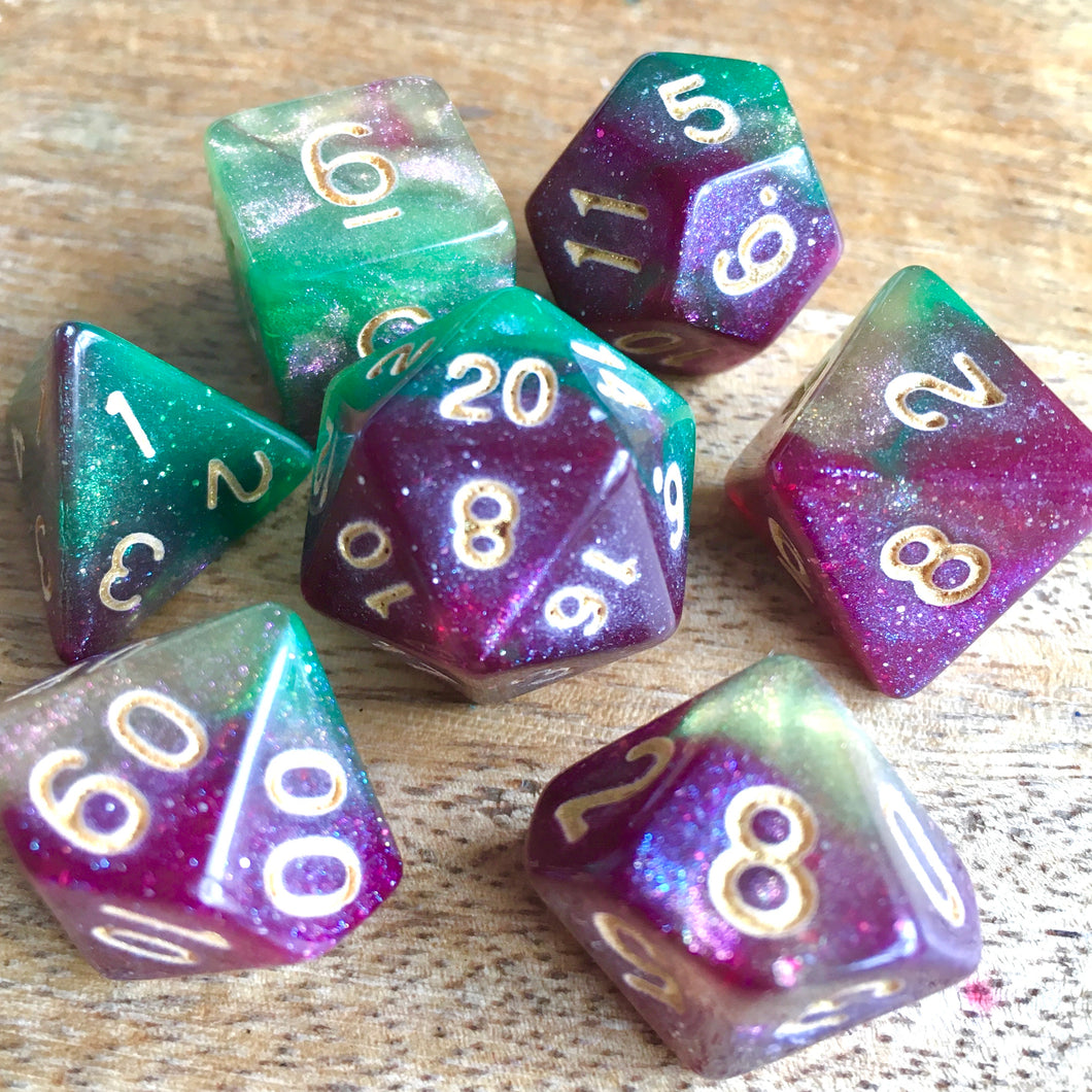 Glastonbury Grove -  RPG Dice Set, CritKit