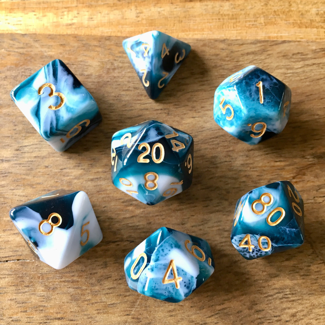 Midnight Coven (Ocean) -  RPG Dice Set, CritKit