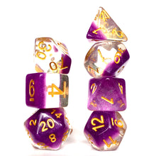 Load image into Gallery viewer, Snowglobe - Violet -  RPG Dice Set, CritKit