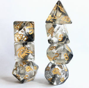 Spirit of The Raven -  RPG Dice Set, CritKit
