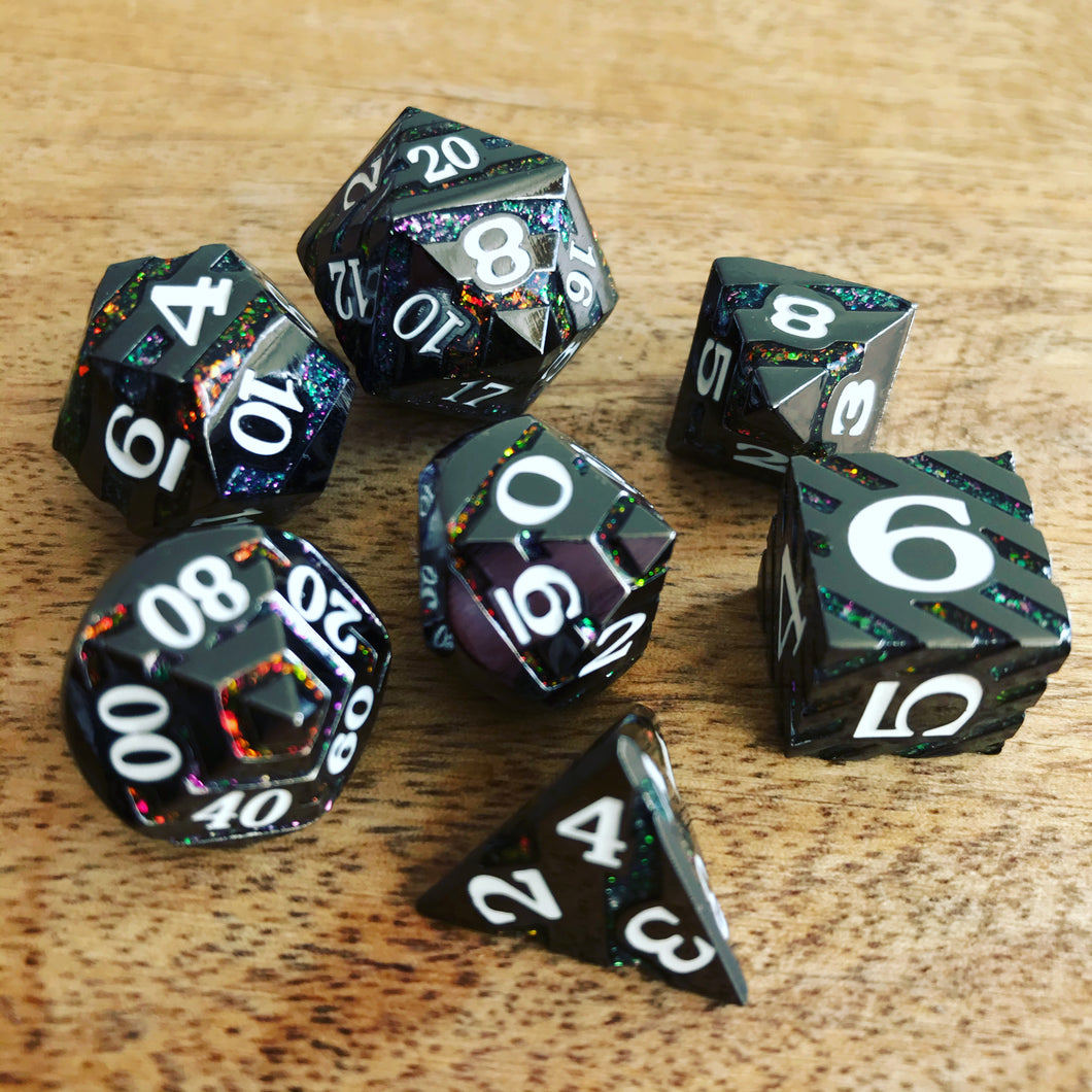 Vertigo Black - Metal Dice