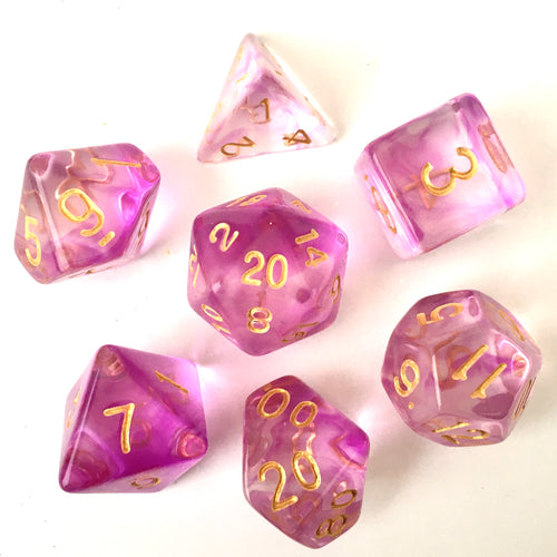 Purple Smoke -  RPG Dice Set, CritKit