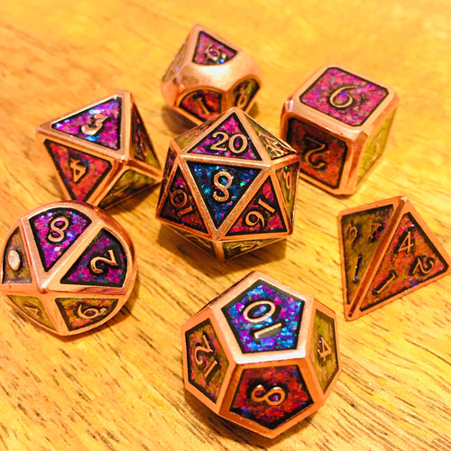Metal Rainbow -  RPG Dice Set, CritKit