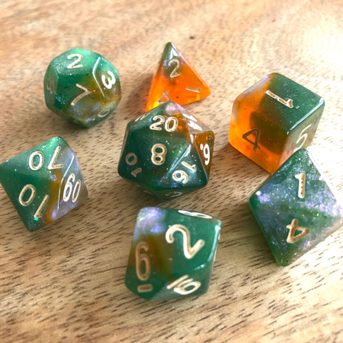 Sunset in a Perfect World -  RPG Dice Set, CritKit