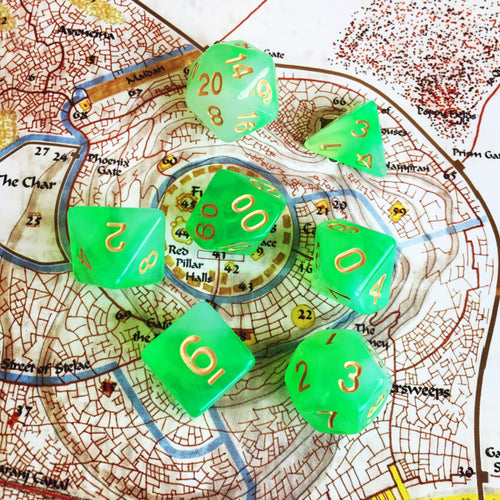Emerald Gate -  RPG Dice Set, CritKit