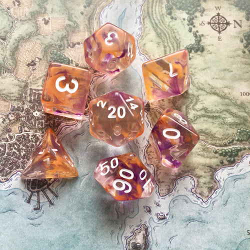 Firespine Dawn -  RPG Dice Set, CritKit