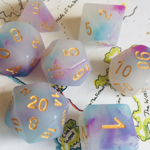 Faerie Fire -  RPG Dice Set, CritKit