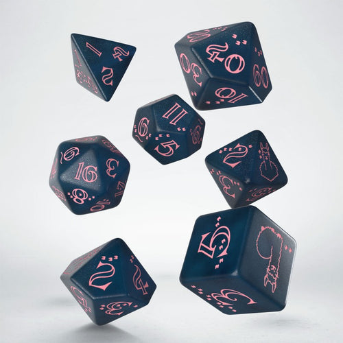Sparkling Llama - Blue & Pink - Q-Workshop -  RPG Dice Set, CritKit