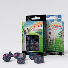 Load image into Gallery viewer, Sparkling Llama - Blue & Pink - Q-Workshop -  RPG Dice Set, CritKit