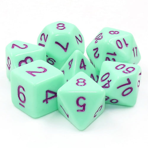 Mint Rose -  RPG Dice Set, CritKit