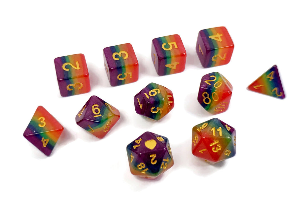 Rainbow Pride - HeartBeatDice - Critical Kit