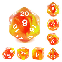 Load image into Gallery viewer, Rising Phoenix -  RPG Dice Set, CritKit