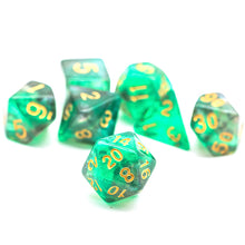 Load image into Gallery viewer, Primordial - Green & Grey -  RPG Dice Set, CritKit