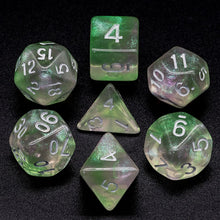 Load image into Gallery viewer, Primordial - Green & Pink -  RPG Dice Set, CritKit