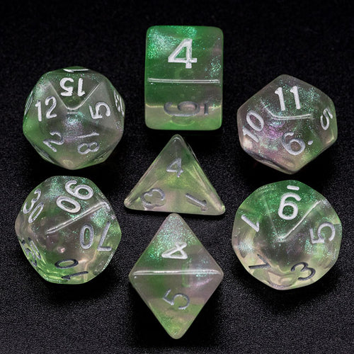 Primordial - Green & Pink -  RPG Dice Set, CritKit