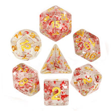 Load image into Gallery viewer, Metal Flakes - Ruby -  RPG Dice Set, CritKit