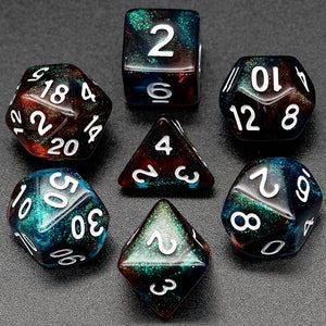 Primordial - Red & Blue -  RPG Dice Set, CritKit