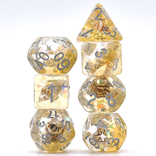 Sand Conch -  RPG Dice Set, CritKit
