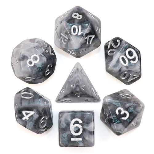 Snowy Crystal -  RPG Dice Set, CritKit