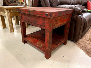 17-3-67-66 FI Rustic Red Cocktail Table