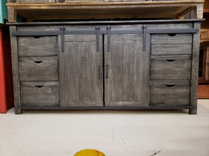Jon420fi 72 inch Console Doors and Drawers Grey