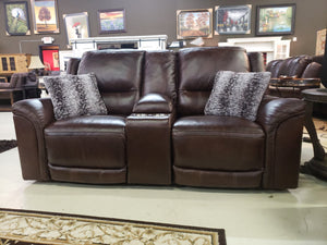 U941 FI-A Top Grain Leather Powered Sofa and Loveseat