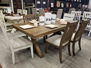 D865-236 FI-A Dining Table w/ 6 Chairs