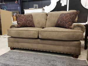 4352 FI-CnJ Chenille Sofa and Loveseat